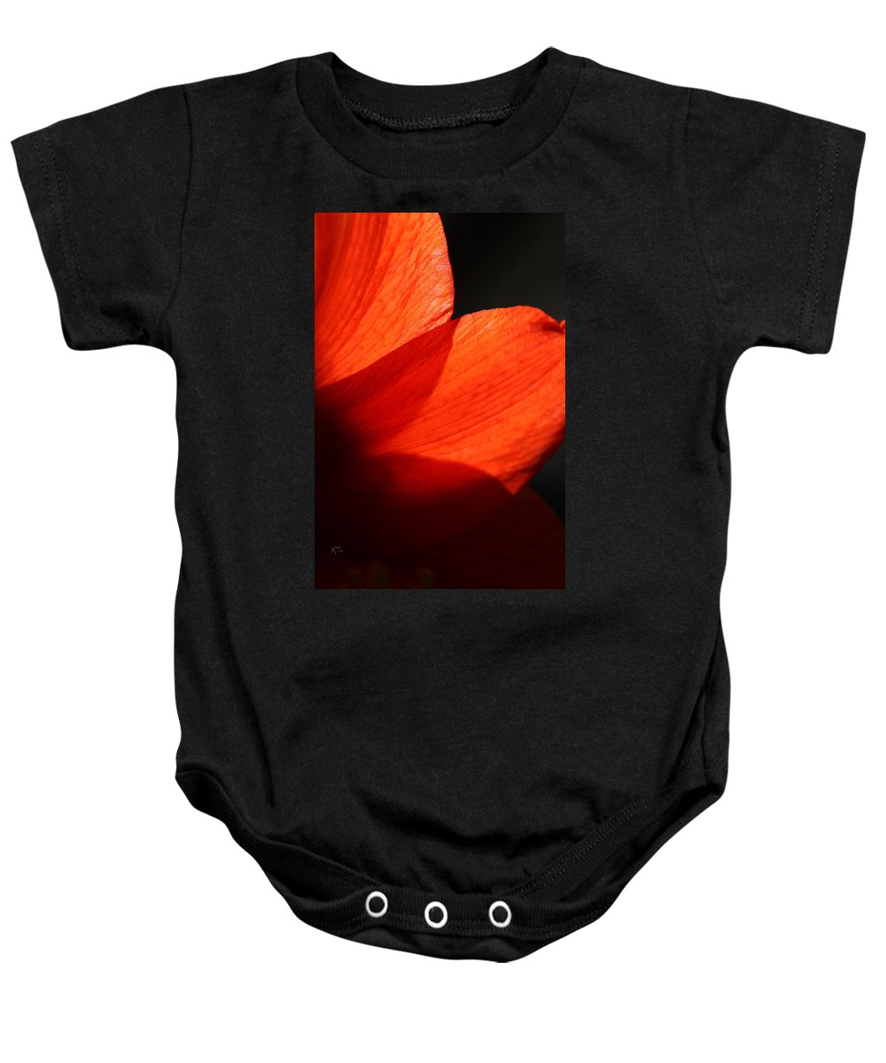 Amaryllis Baby Onesie featuring the photograph Shades Of Red by Karol Livote
