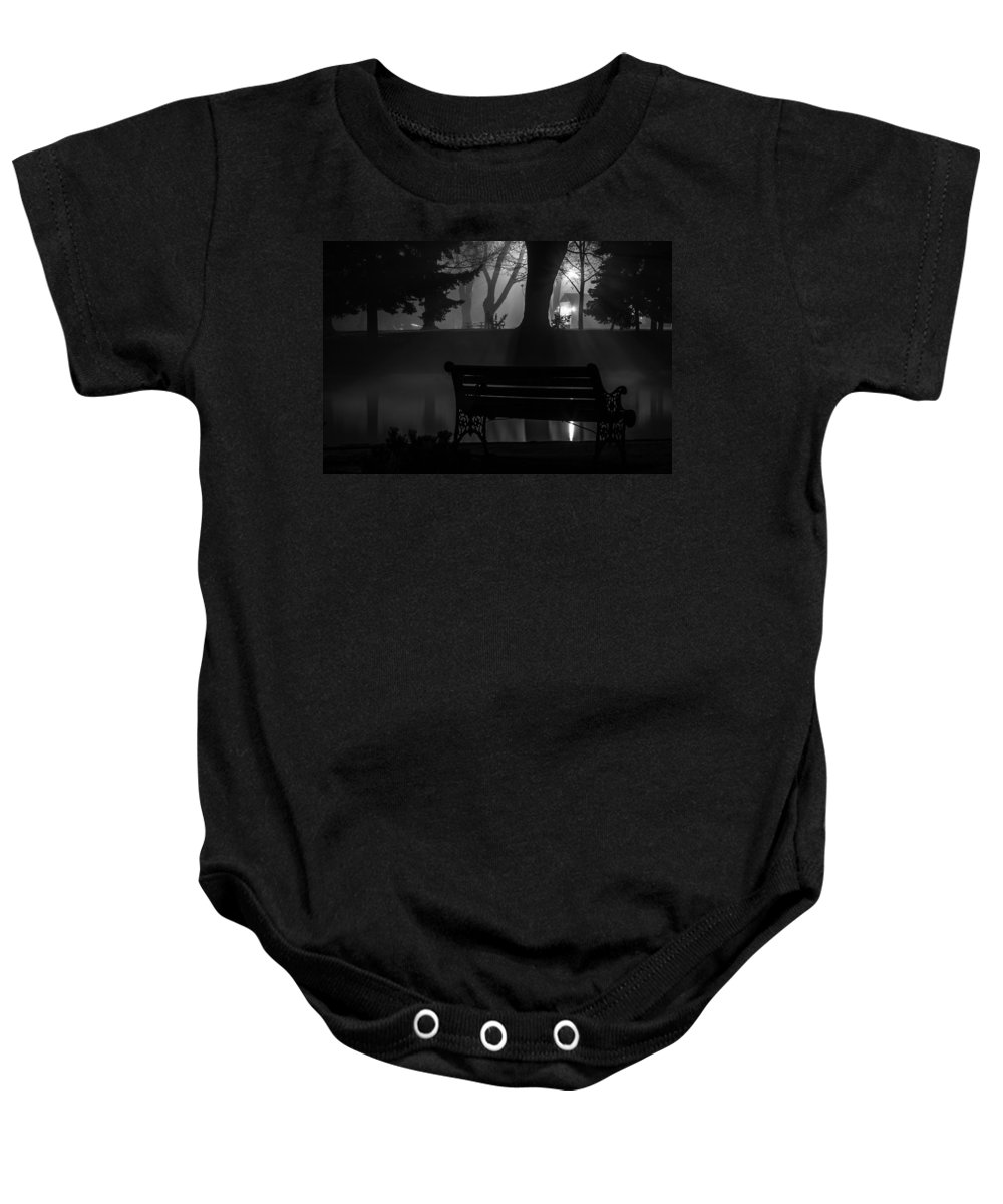 Silhouettes Baby Onesie featuring the photograph Shapes In The Park by Curtis Knight