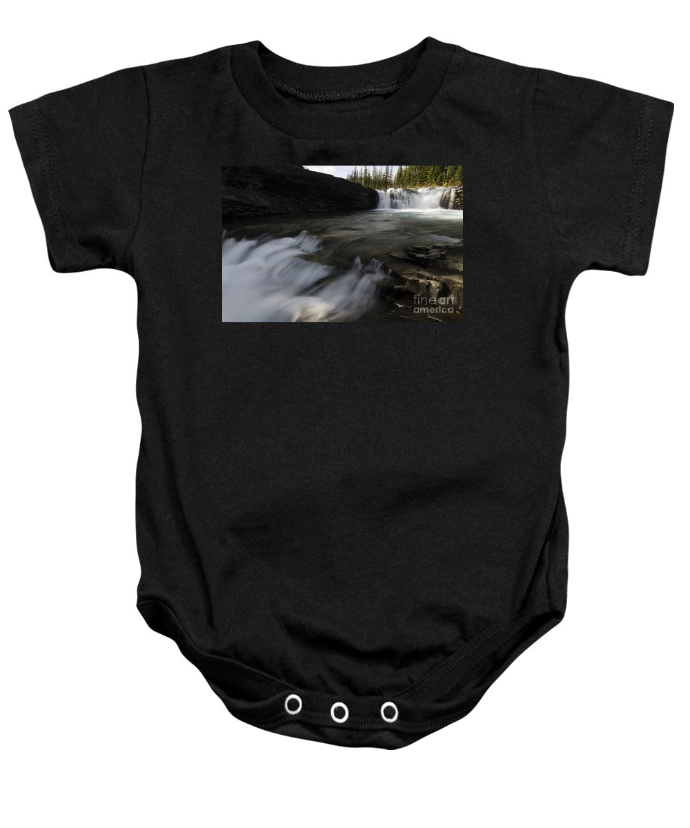 Sheep River Baby Onesie featuring the photograph Sheep River Falls Alberta Canada 1 by Bob Christopher