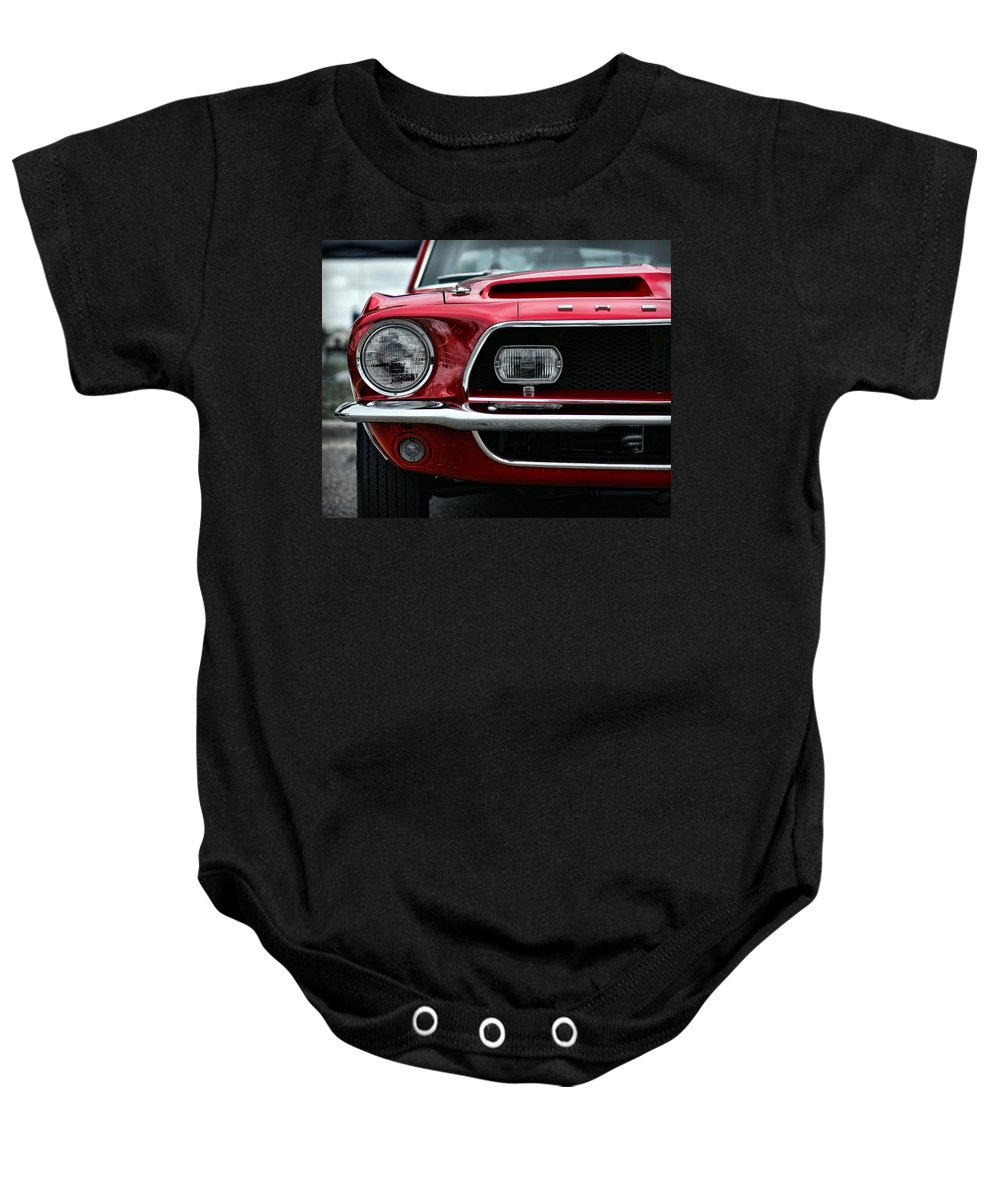 1968 Baby Onesie featuring the photograph Shelby Mustang by Gordon Dean II