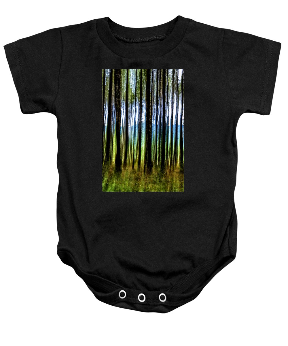 Trees Baby Onesie featuring the photograph Shifting by Belinda Greb