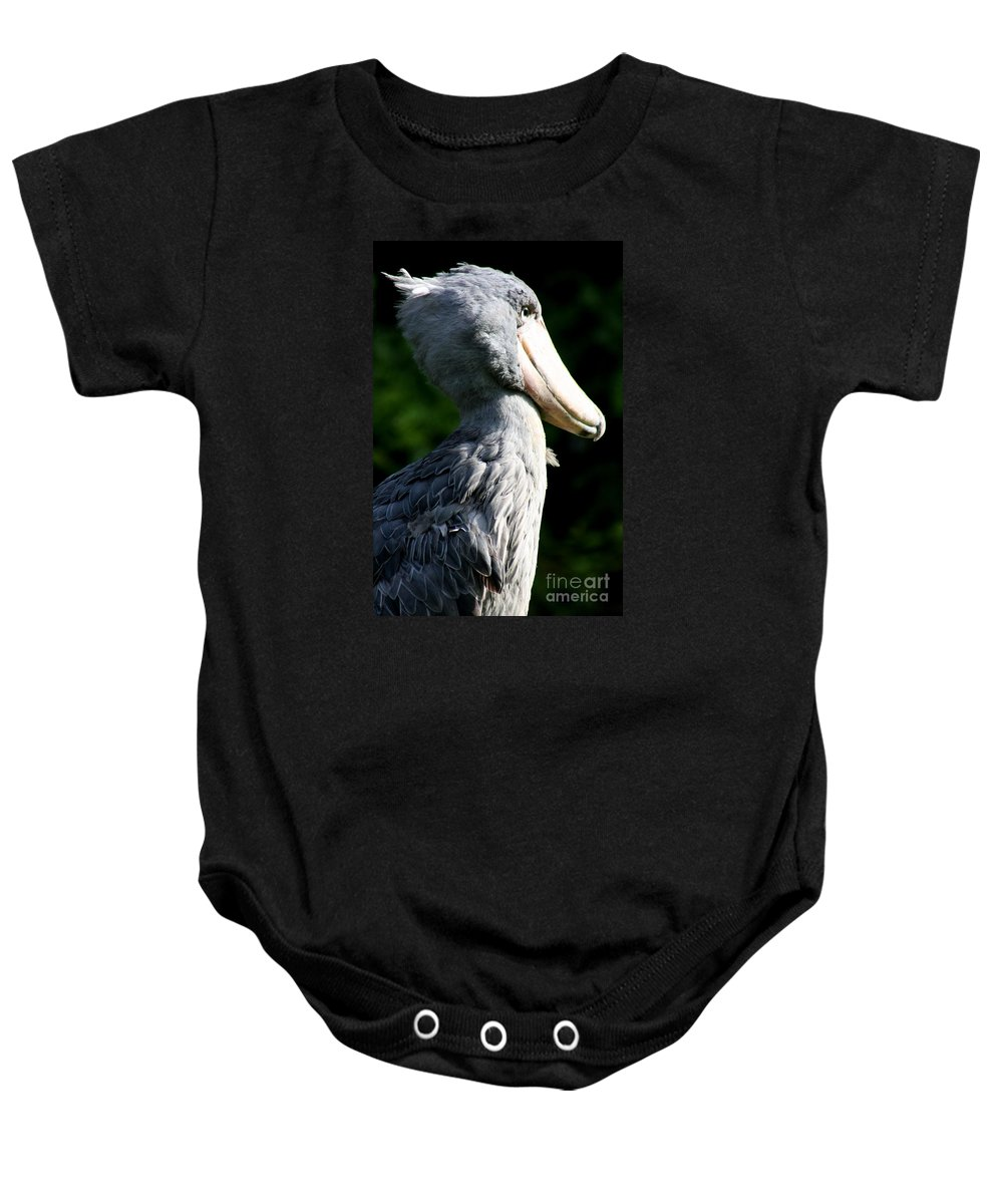 Shoebill Baby Onesie featuring the photograph Shoebill Portrait by Christiane Schulze Art And Photography