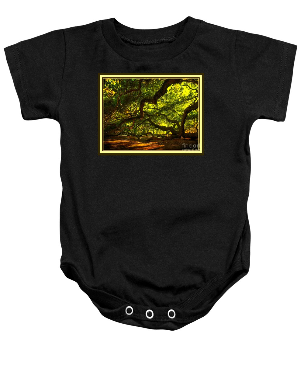 Angel Oak Baby Onesie featuring the photograph Side Limbs of the 1400 Year Old Angel Oak by Susanne Van Hulst