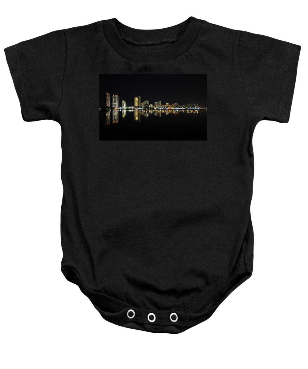 Skyline Baby Onesie featuring the photograph Silent Night by Keith Armstrong