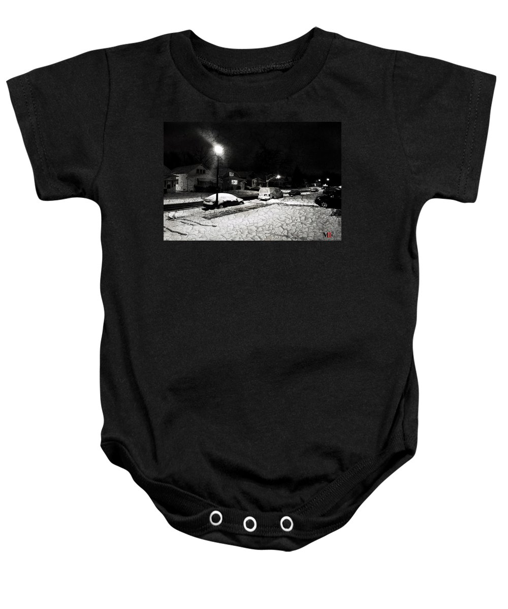 Michael Frank Jr Baby Onesie featuring the photograph Silent Night by Michael Frank Jr