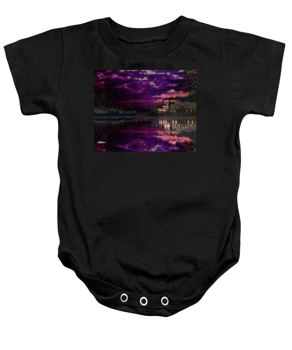 Silent River Baby Onesie featuring the digital art Silent River by Seth Weaver