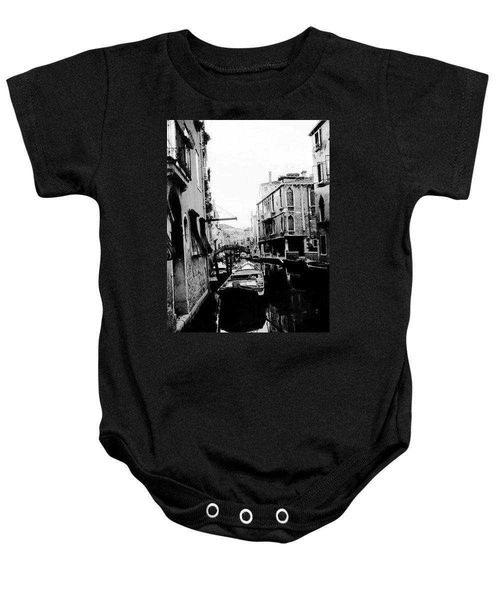 Venice Baby Onesie featuring the photograph Silenzio Venice Italy by Heike Hellmann-Brown