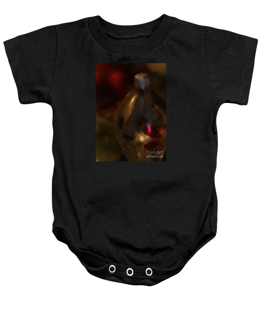 Christmas Baby Onesie featuring the photograph Silver And Gold by Linda Shafer