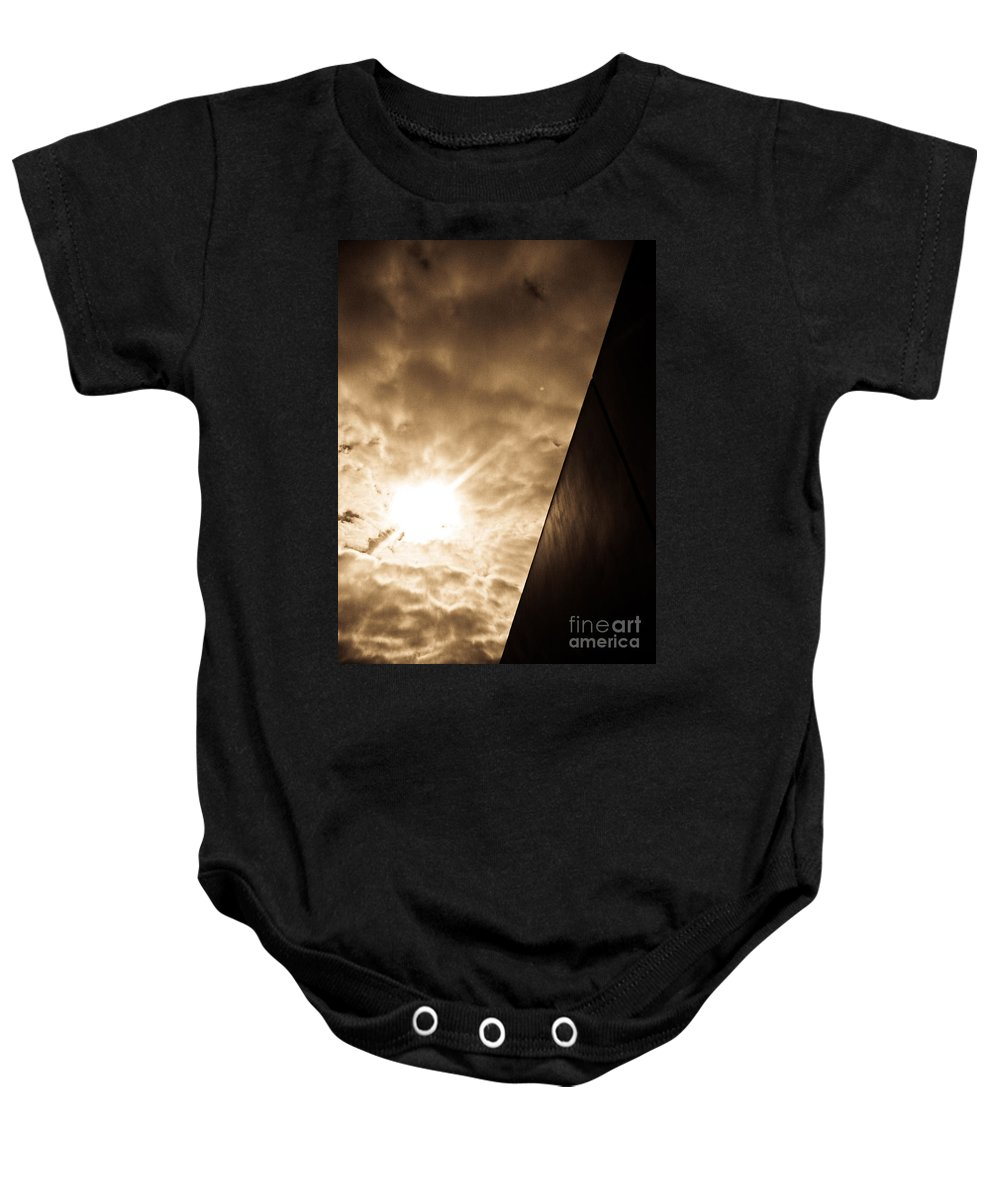 Abstract Baby Onesie featuring the photograph Sky Above The Wall by Fei A