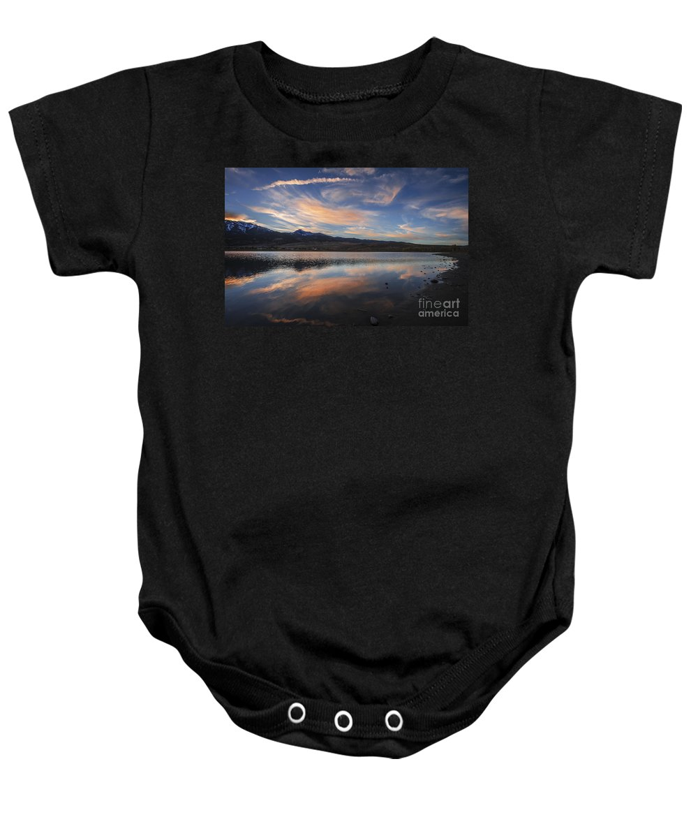 Sky Baby Onesie featuring the photograph Sky Painting by Dianne Phelps