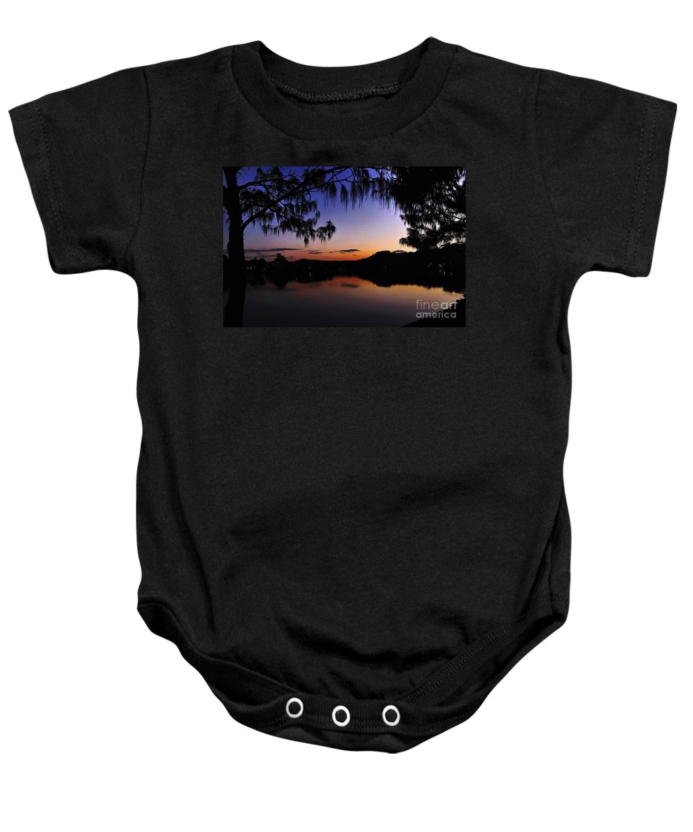 Photography Baby Onesie featuring the photograph Sleeping Sun by Kaye Menner