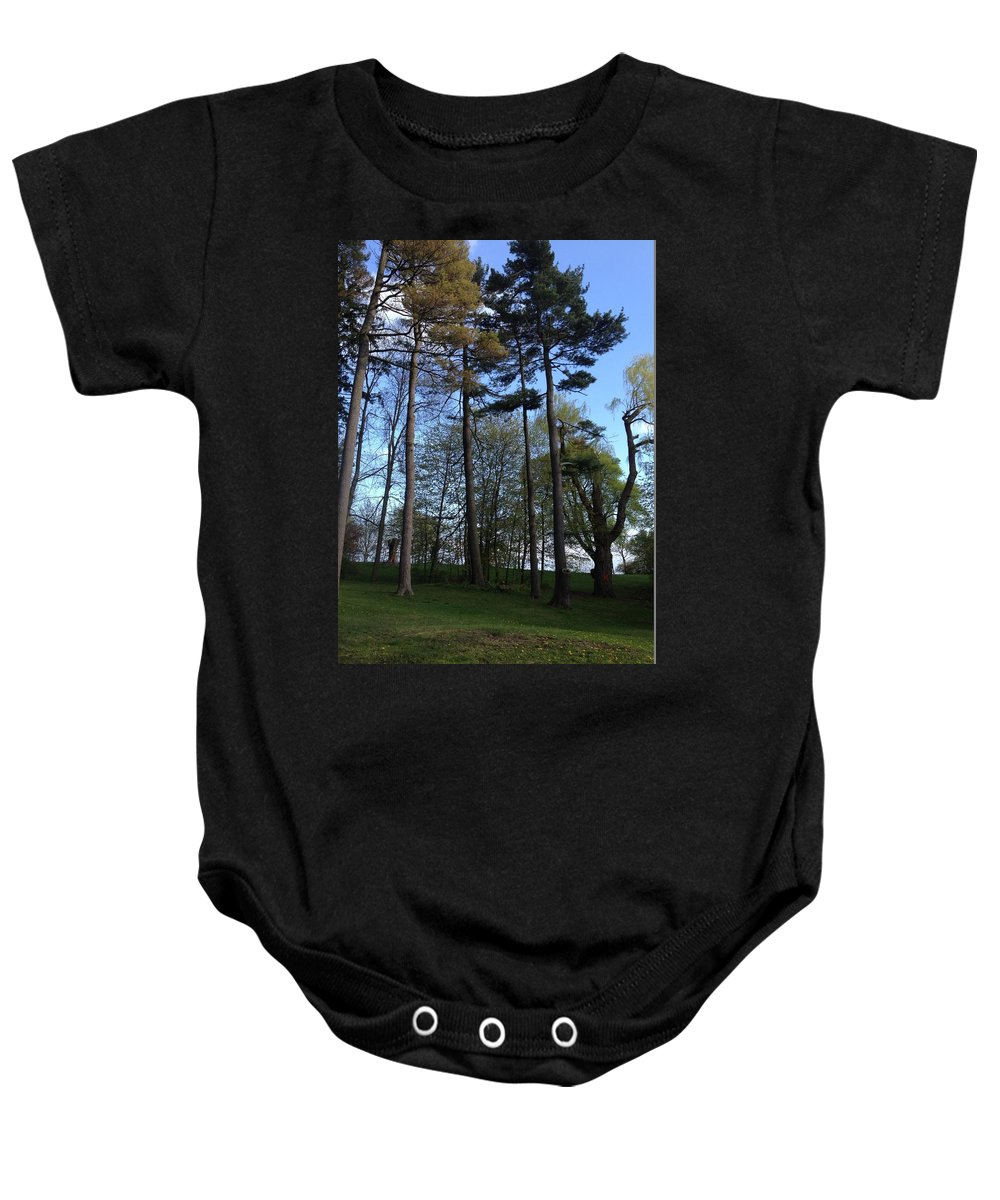 Trees Baby Onesie featuring the photograph Slim Trees by Pema Hou