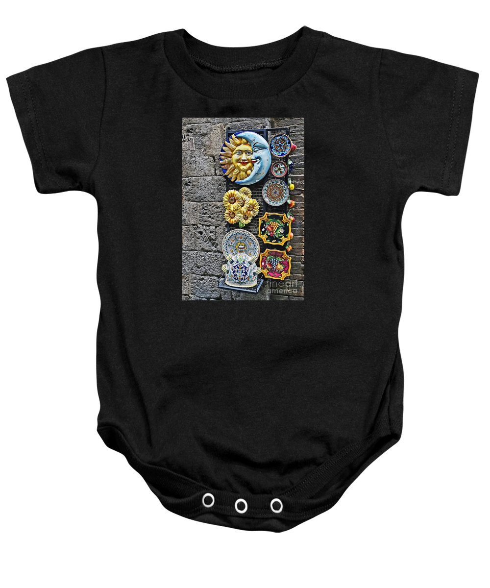 Travel Baby Onesie featuring the photograph Smile Of The Sun Kiss Of The Moon by Elvis Vaughn