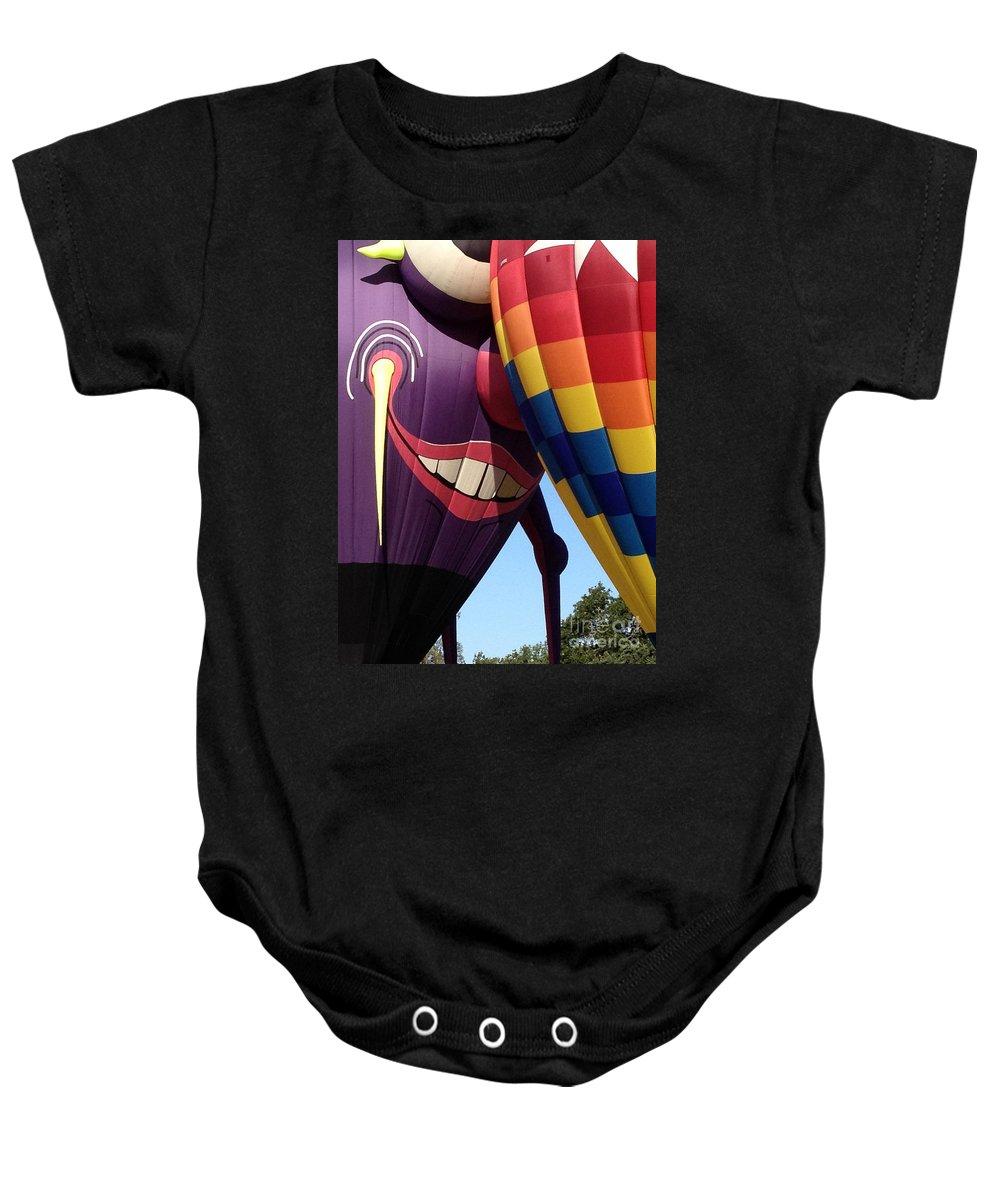 Hot Air Balloon Baby Onesie featuring the photograph Smitten Hot Air Balloon by Jacklyn Duryea Fraizer