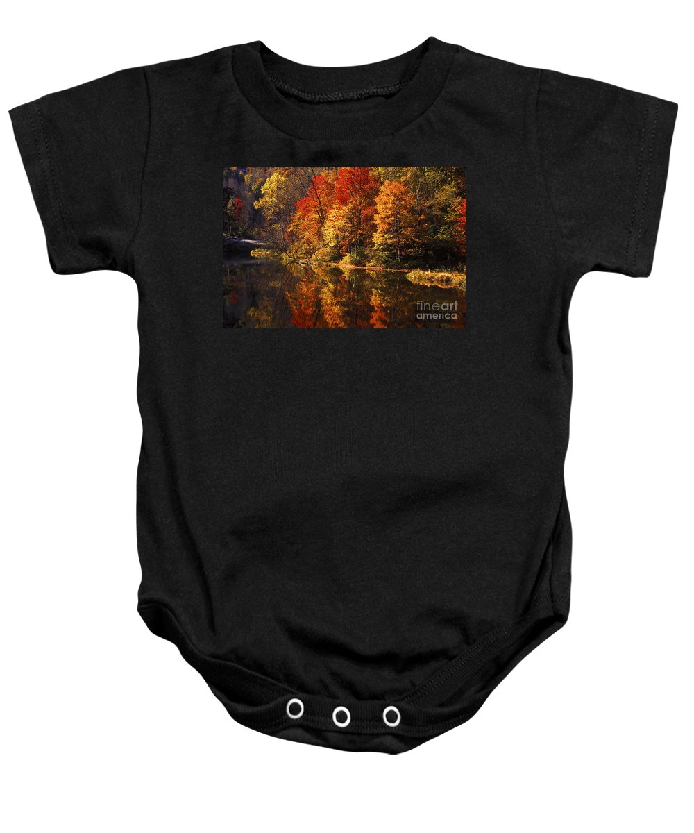 Fall Colors Baby Onesie featuring the photograph Smoky Mountain Colors - 235 by Paul W Faust - Impressions of Light