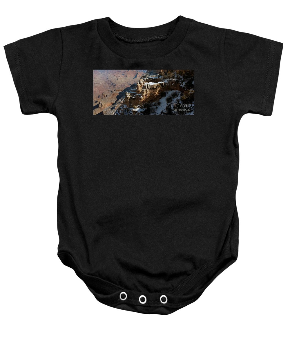 Grand Canyon Baby Onesie featuring the photograph Snow Covered Grand Canyon by Luv Photography