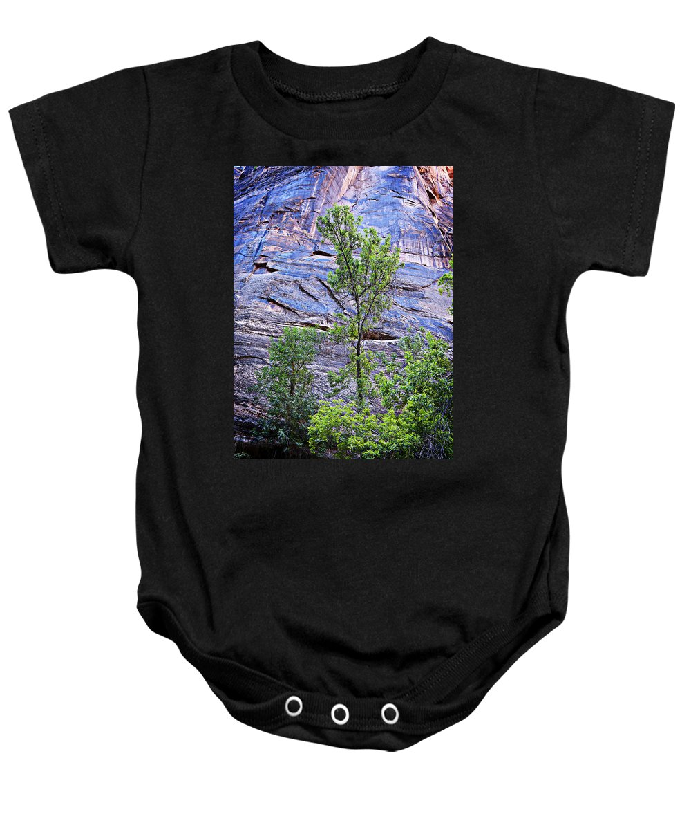 Canyon Baby Onesie featuring the photograph So Zion 2 by Marilyn Hunt