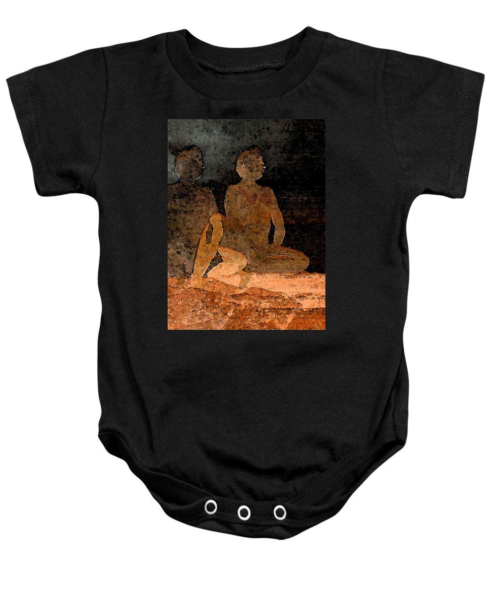 Digital Baby Onesie featuring the digital art Solitude by David Hansen