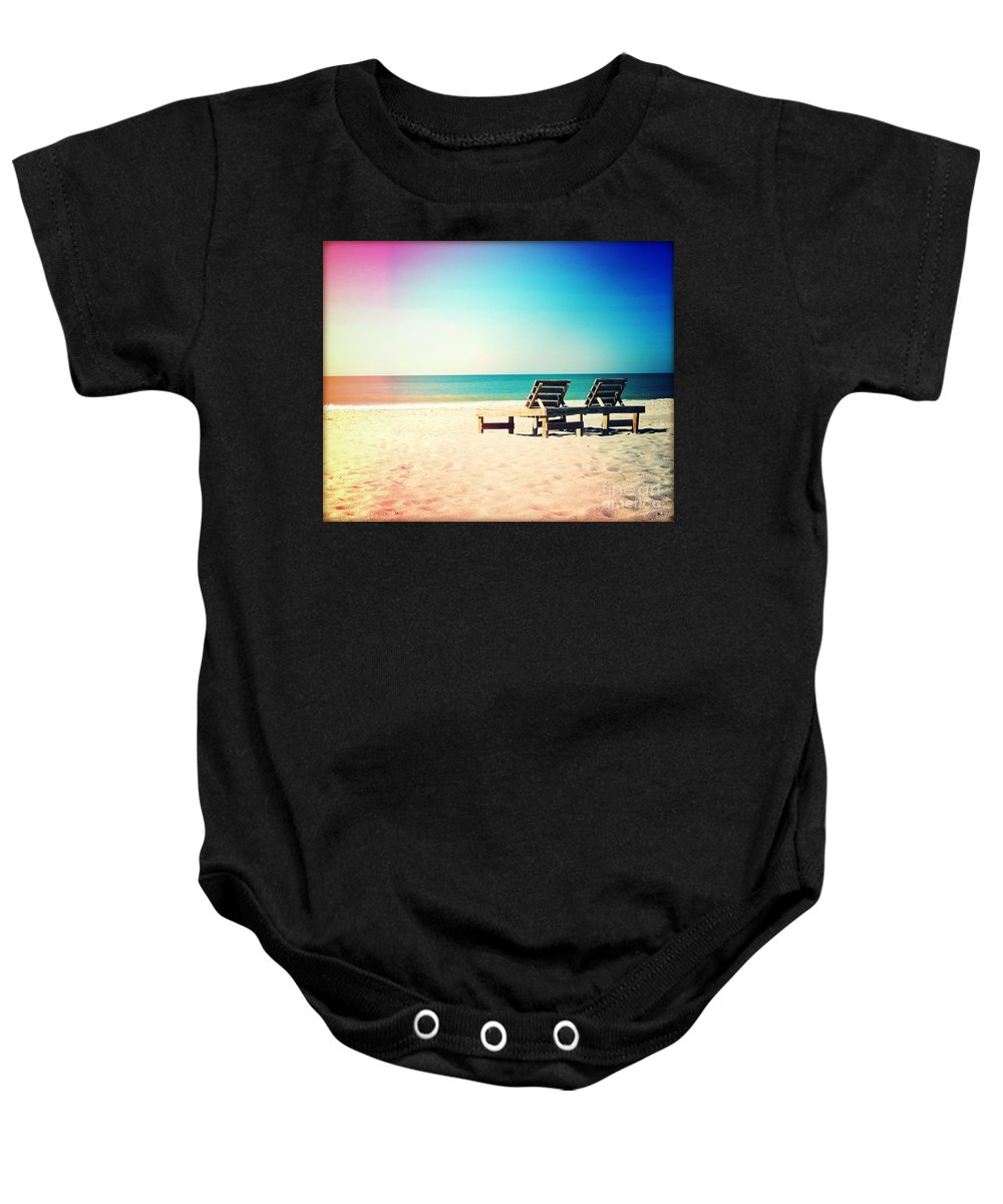Florida Baby Onesie featuring the photograph Solitude Photography Light Leaks by Chris Andruskiewicz