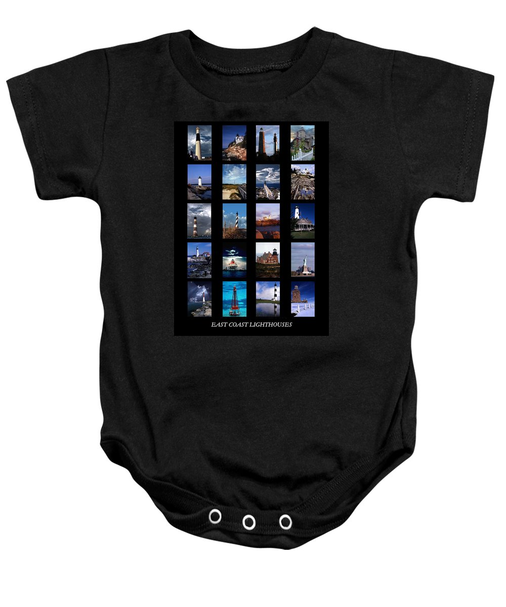 Lighthouses Baby Onesie featuring the photograph Some East Coast Lighthouses by Skip Willits