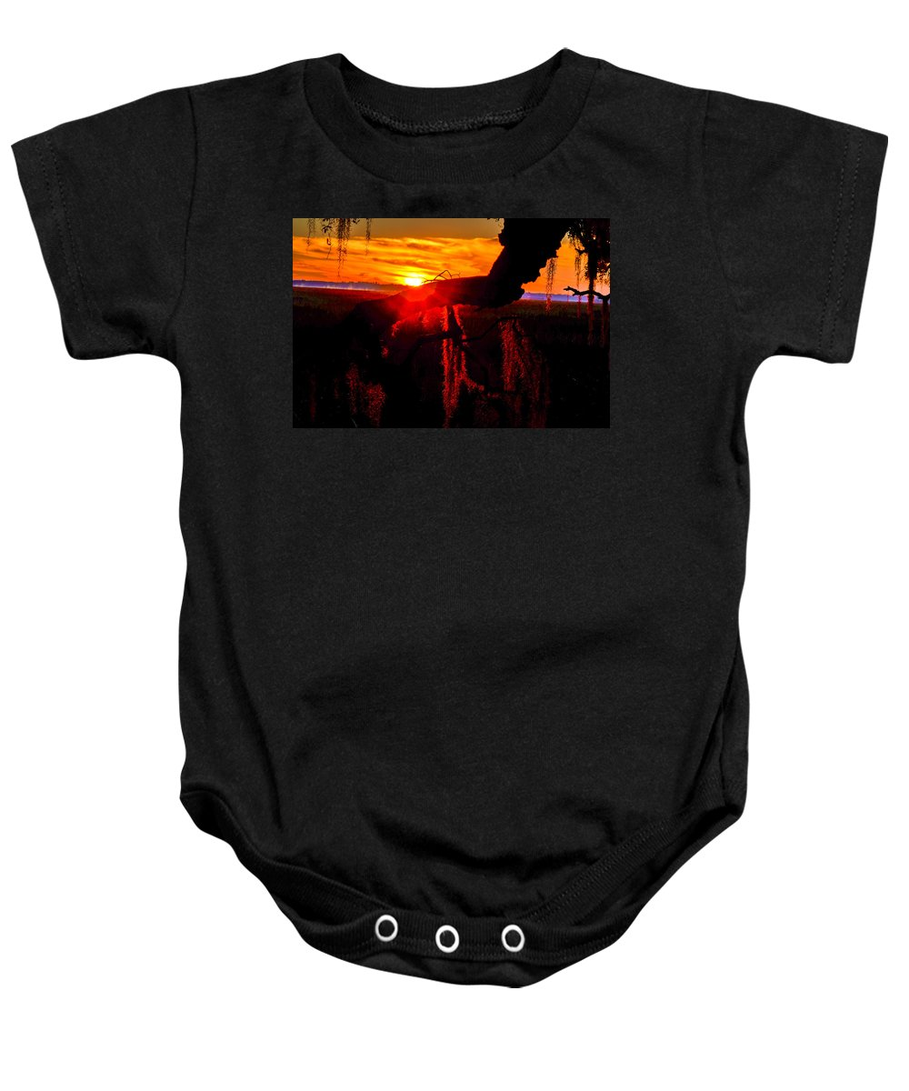 Lowland Baby Onesie featuring the photograph South Carolina Sunburst by Mary Hahn Ward