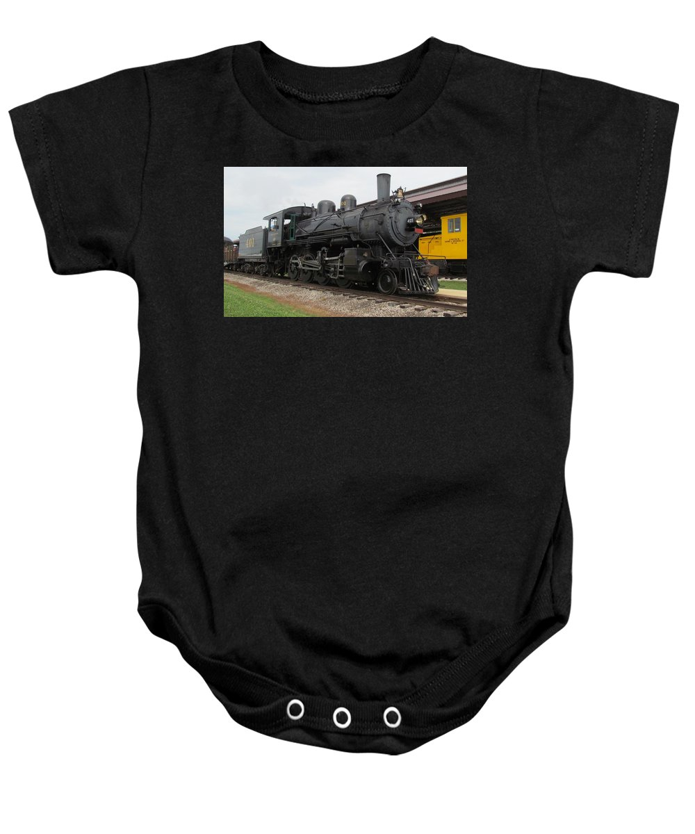 Train Baby Onesie featuring the photograph Southern 401 Memphis by Eric Noa