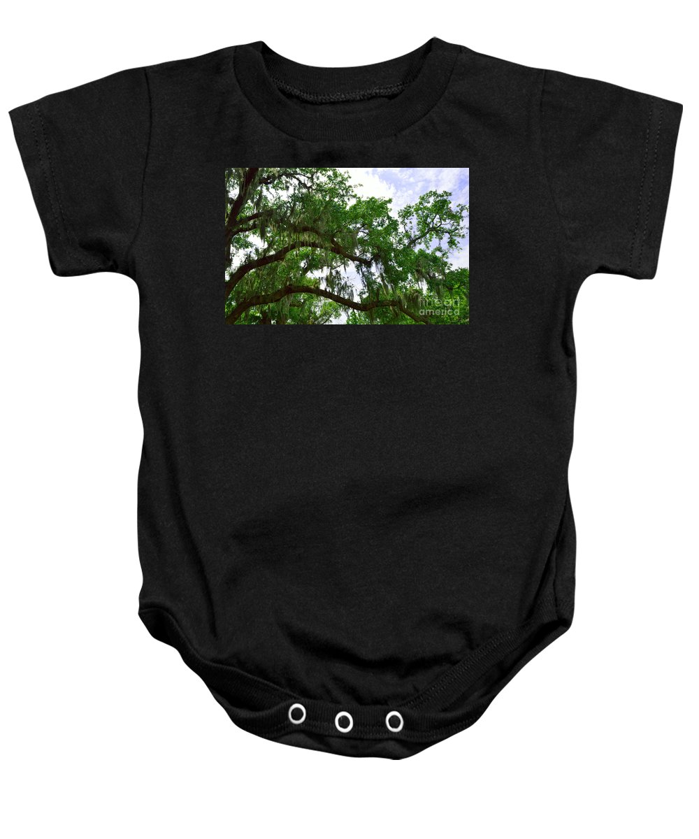 Spanish Moss Baby Onesie featuring the photograph Spanish Moss 1 by Alys Caviness-Gober