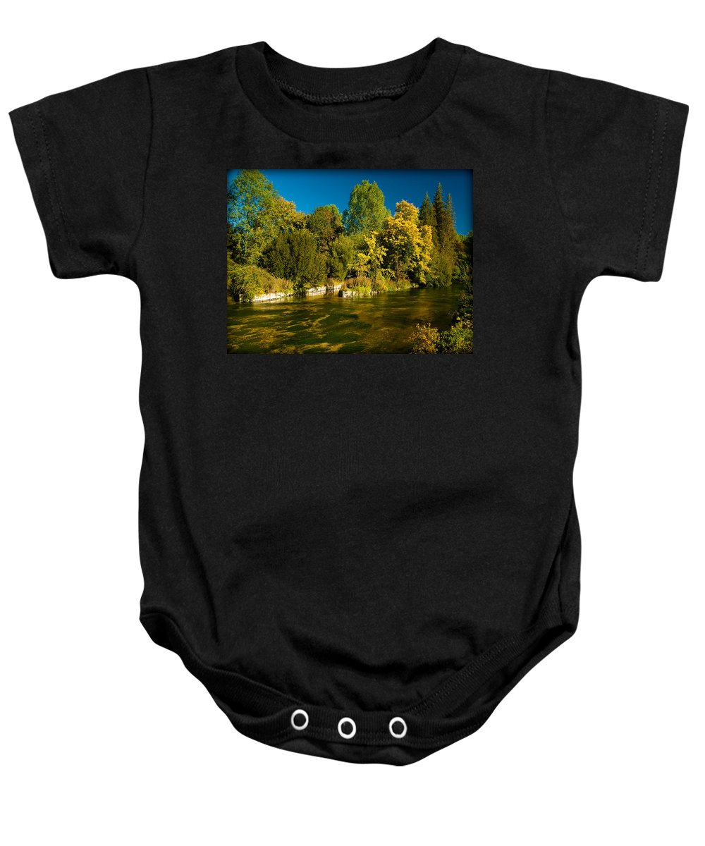Algae Baby Onesie featuring the photograph Sparkling Water by Mark Llewellyn