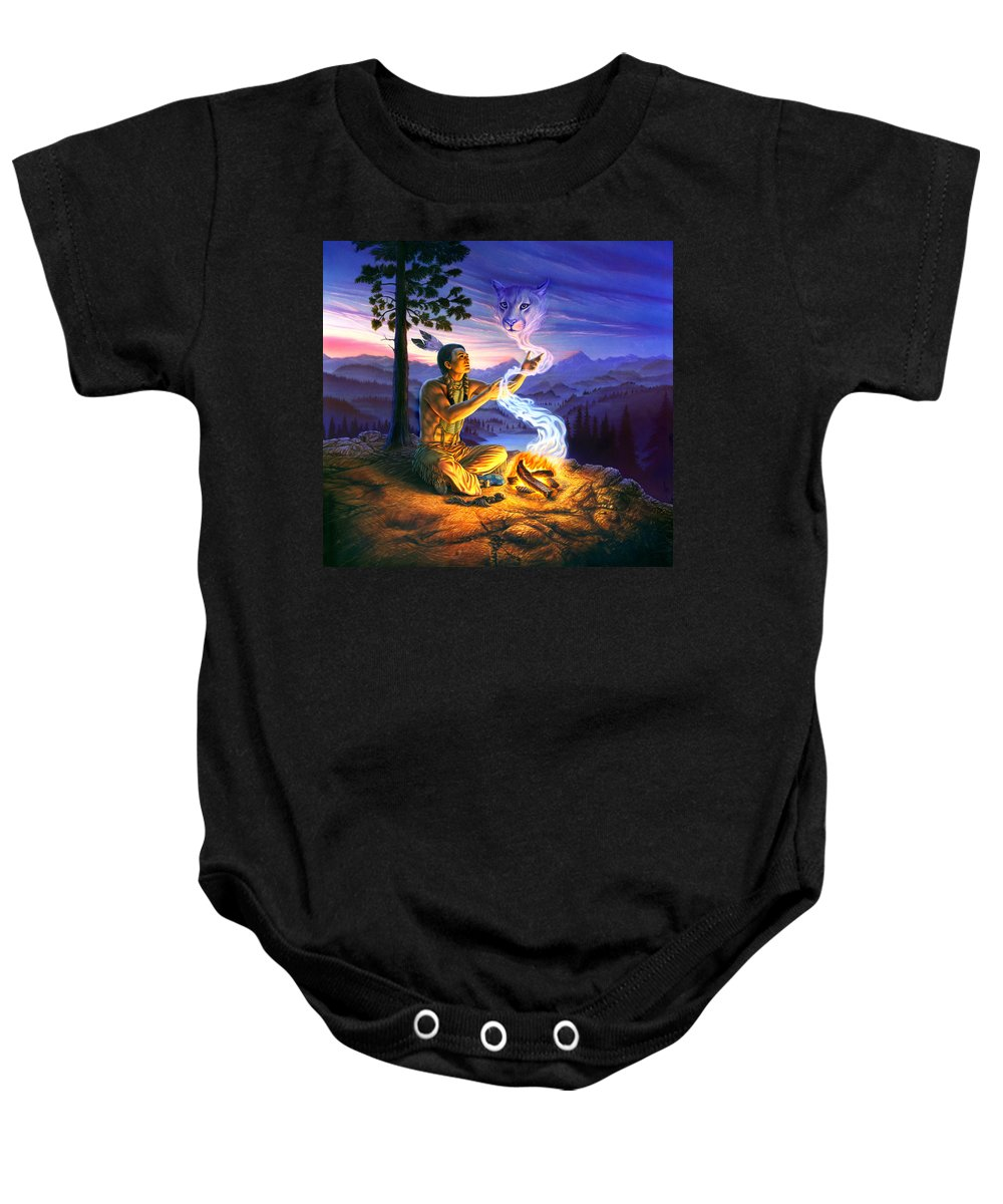 Adult Baby Onesie featuring the photograph Spirit Of The Cougar by Andrew Farley