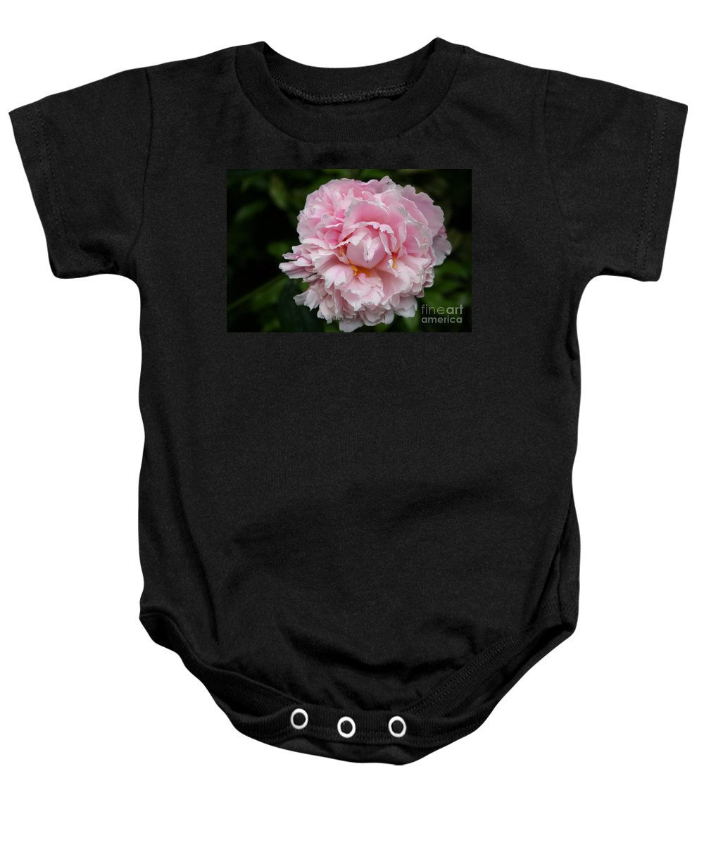 Peony Baby Onesie featuring the photograph Spring In Pink by Christiane Schulze Art And Photography