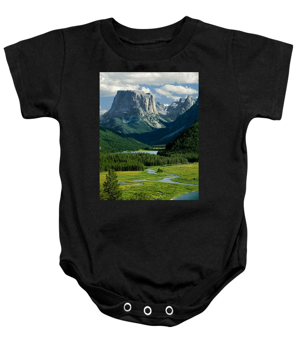 Squaretop Mountain Baby Onesie featuring the photograph Squaretop Mountain 3 by Ed Cooper Photography