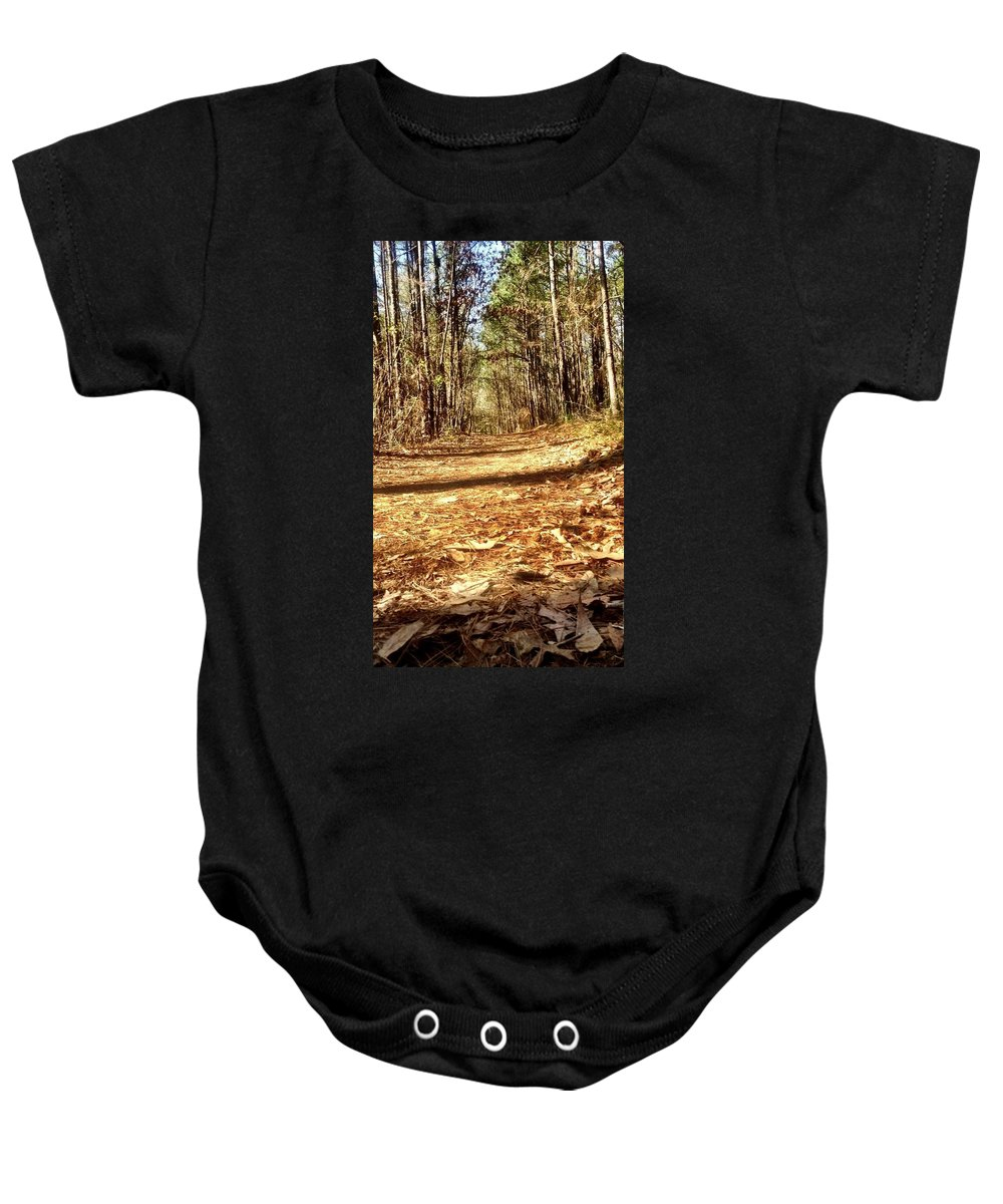 Trees Baby Onesie featuring the photograph Squirel's View by Michele Monk