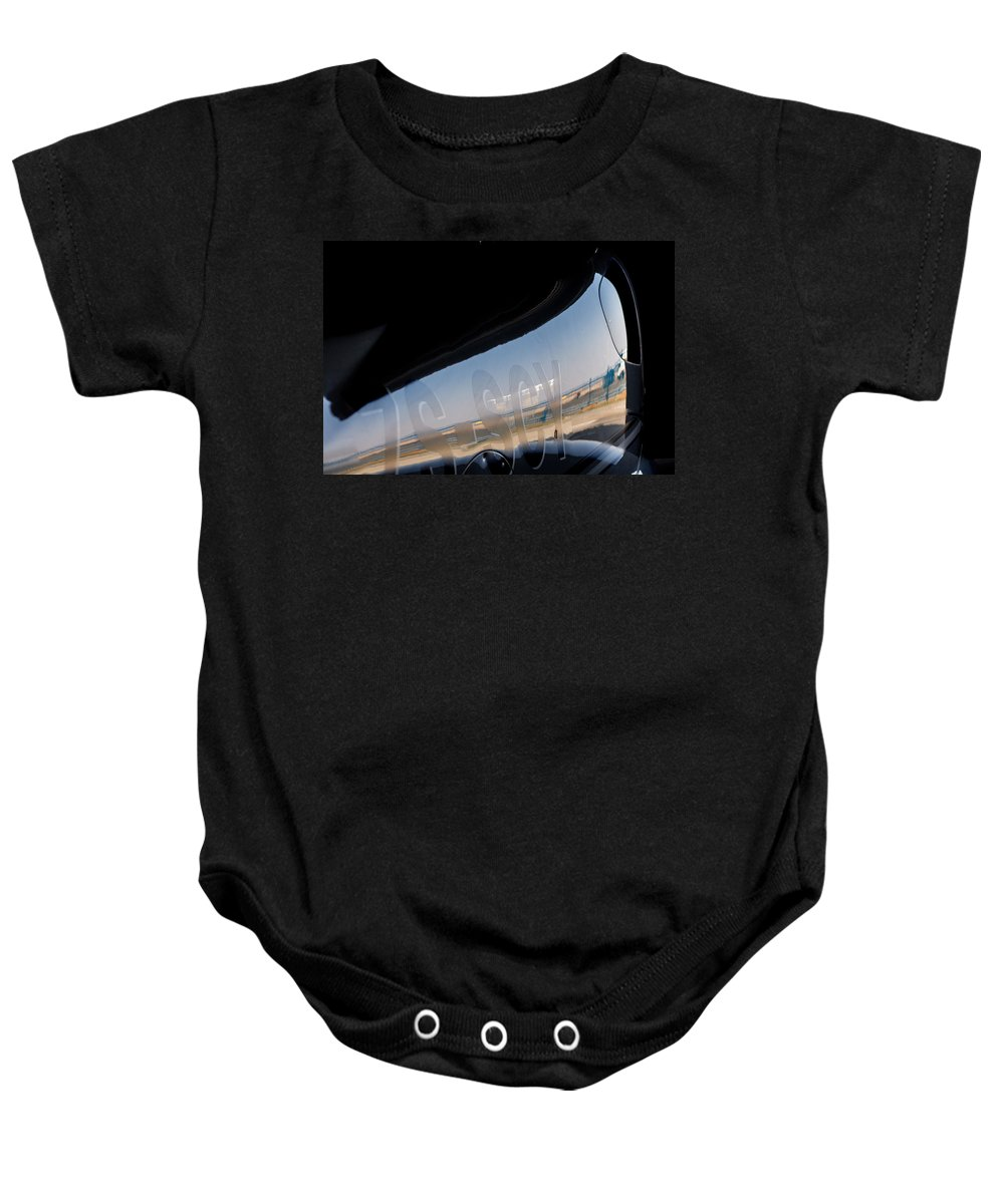Cirrus Sr22 Baby Onesie featuring the photograph Sr22 Reflection II by Paul Job
