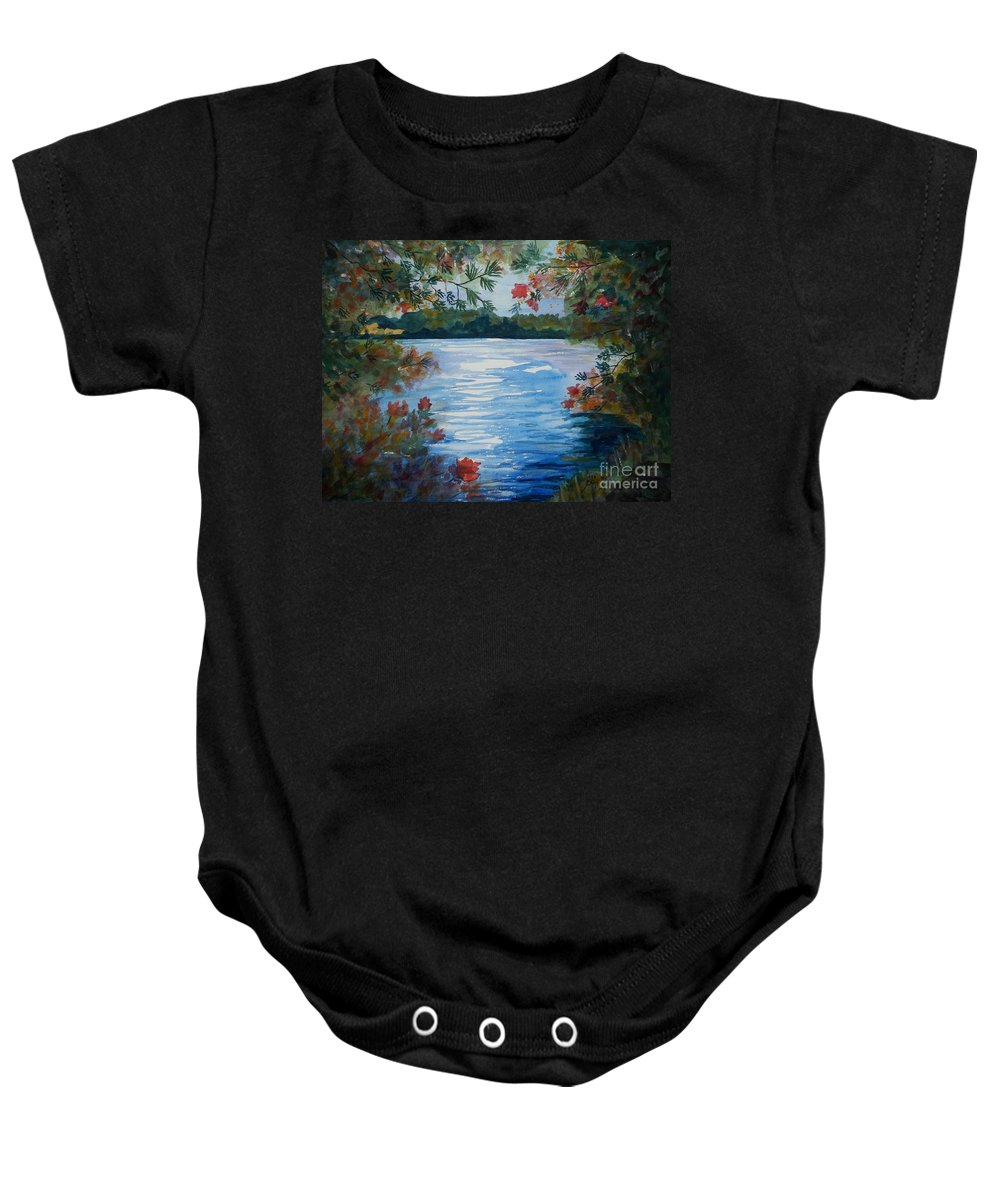 Adirondack Mountains Baby Onesies