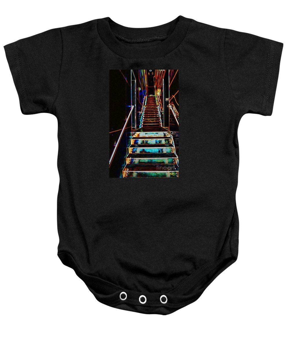 Glow Baby Onesie featuring the photograph Stairway To Heaven by Phil Cardamone