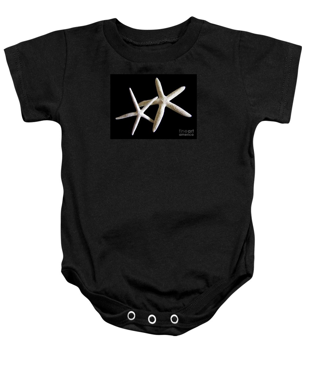 Starfish Baby Onesie featuring the photograph Starfish Tango by Mary Deal