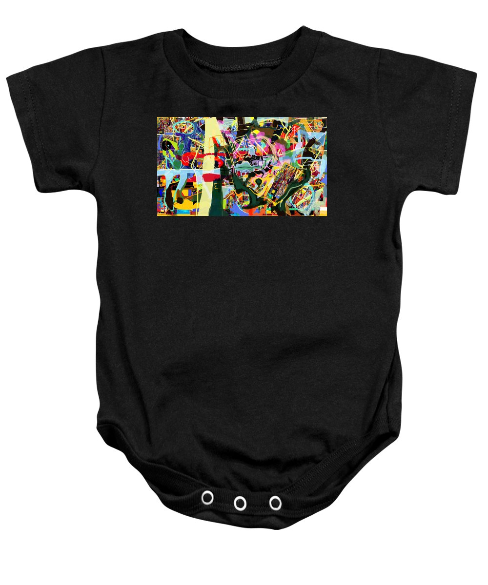 Torah Baby Onesie featuring the digital art Wiping Out The Language Of Amalek 9dbk by David Baruch Wolk