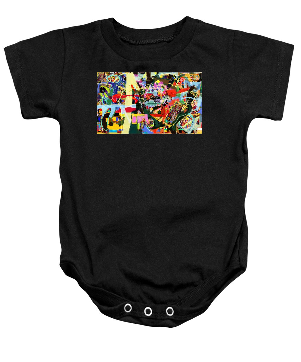 Torah Baby Onesie featuring the digital art Wiping Out The Language Of Amalek 9dbl by David Baruch Wolk