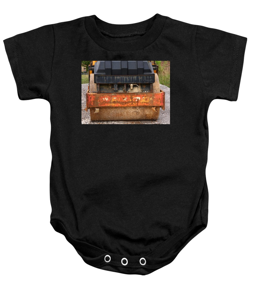 Steamroller Baby Onesie featuring the photograph Steamroller by Melinda Fawver