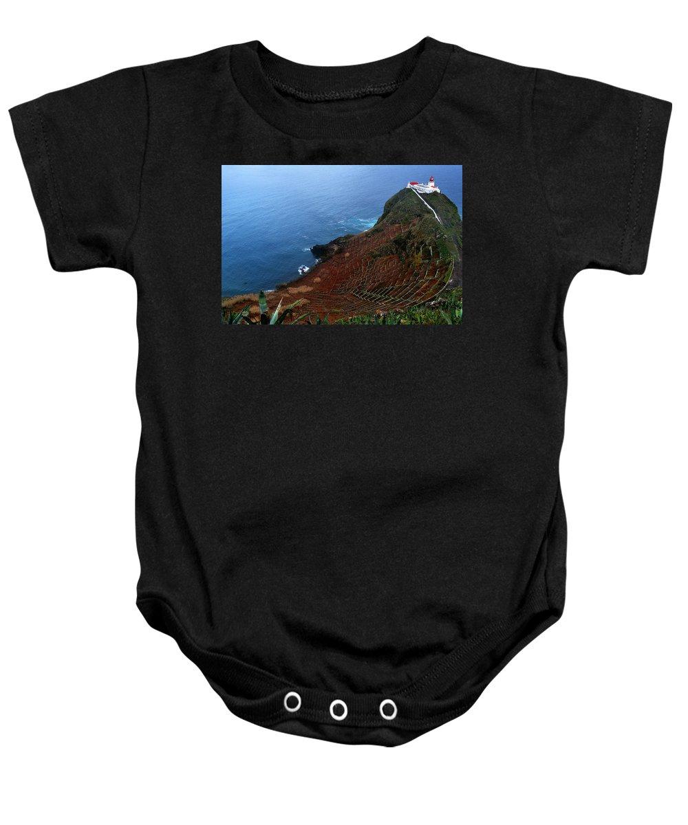 Lighthouse Baby Onesie featuring the photograph Steep Vineyards by M Bernardo