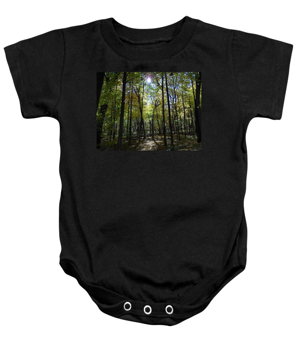 Trees Baby Onesie featuring the photograph Stick Men by Coleen Harty