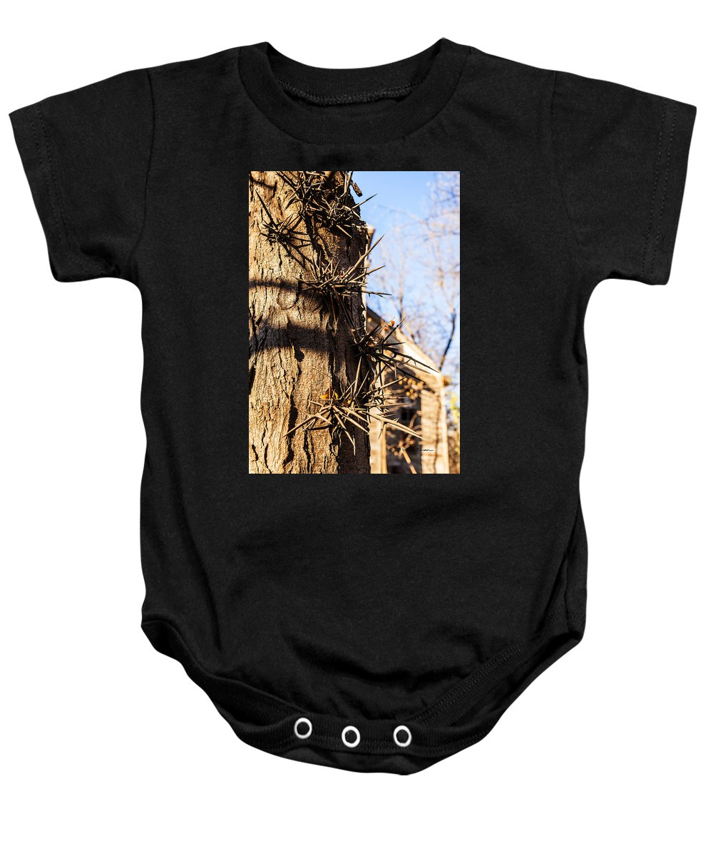 Twisted Baby Onesie featuring the photograph Sticky Issue by Edward Peterson