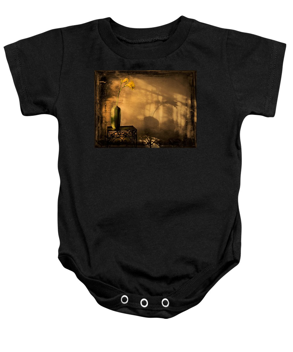 Still Life Baby Onesie featuring the photograph Still Life - Day Lily by Theresa Tahara