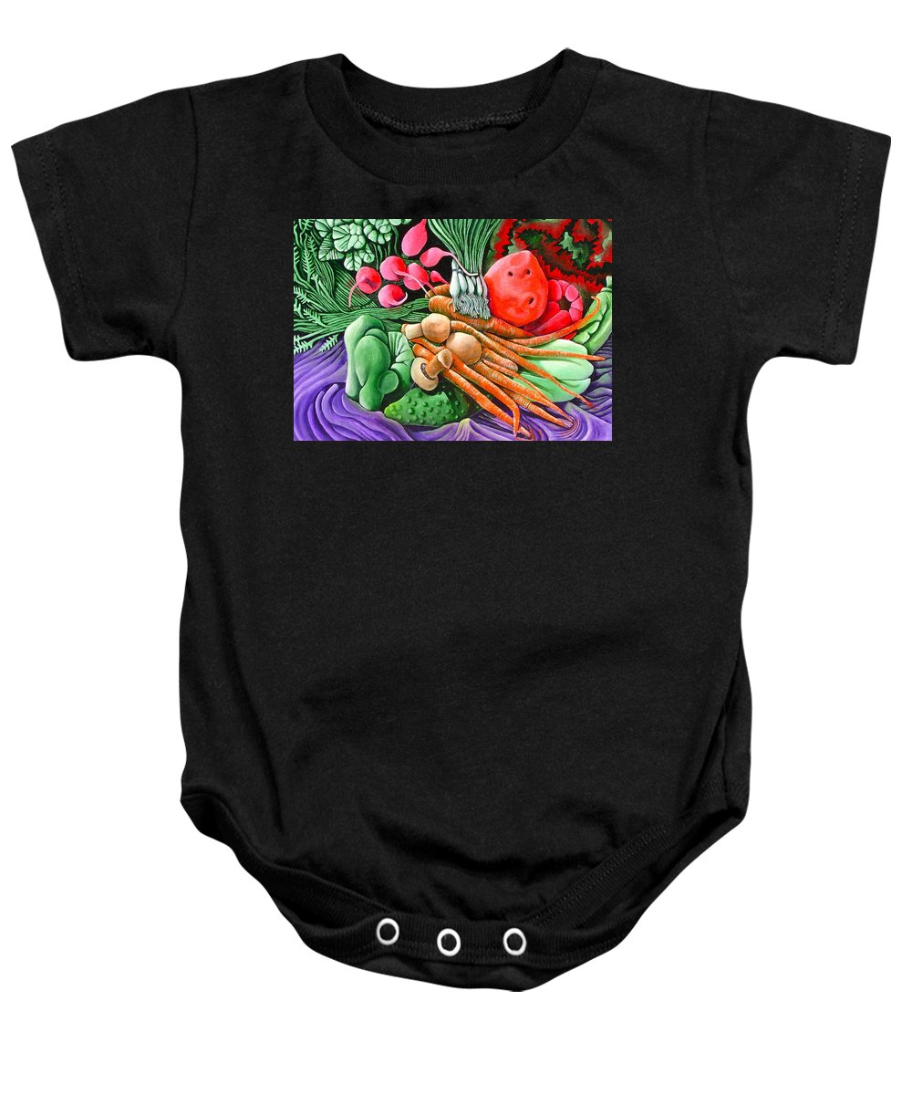 Still Life Baby Onesie featuring the painting Still Life No 1 by Don Martinelli