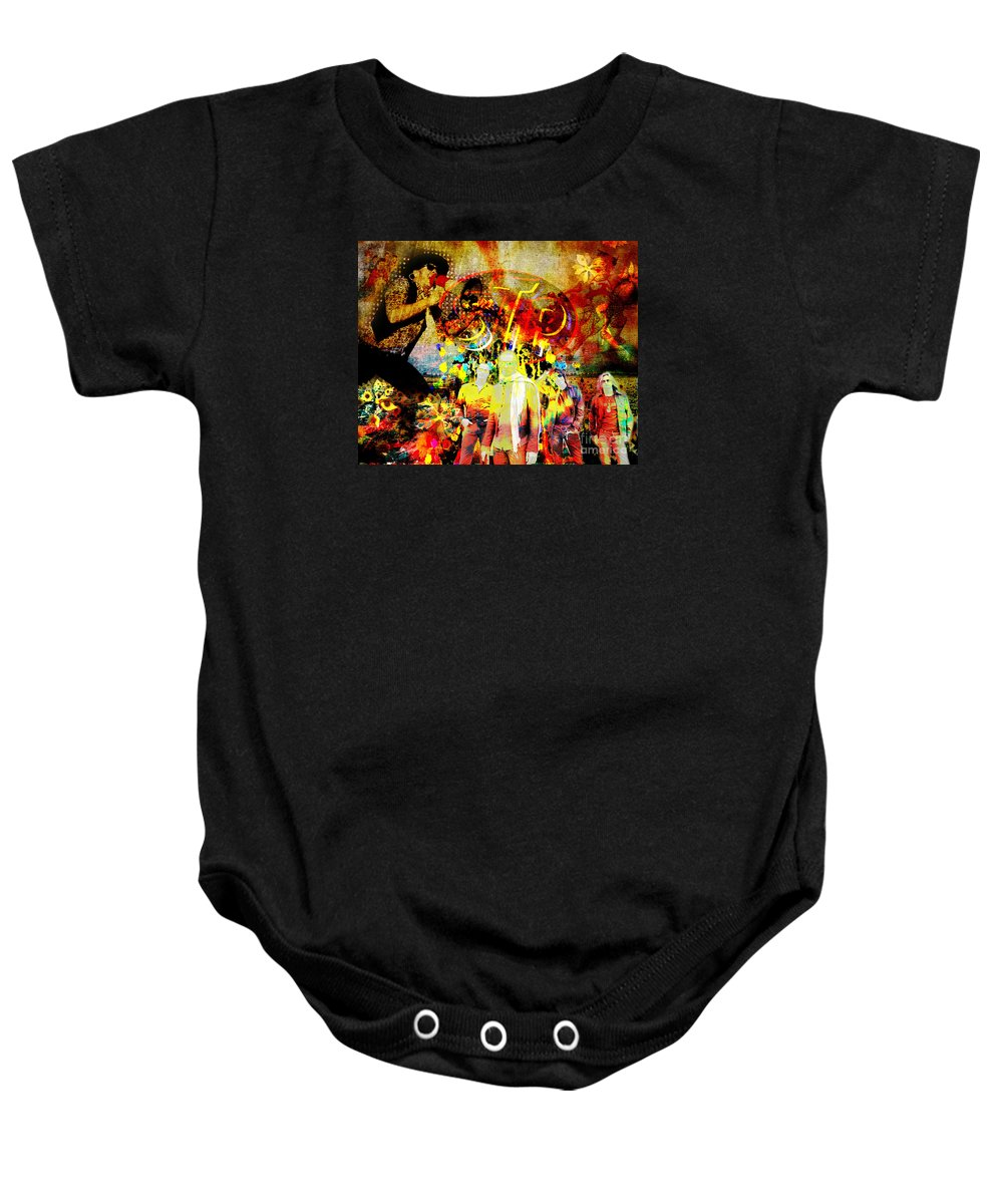 Rock N Roll Baby Onesie featuring the painting Stone Temple Pilots Original by Ryan Rock Artist