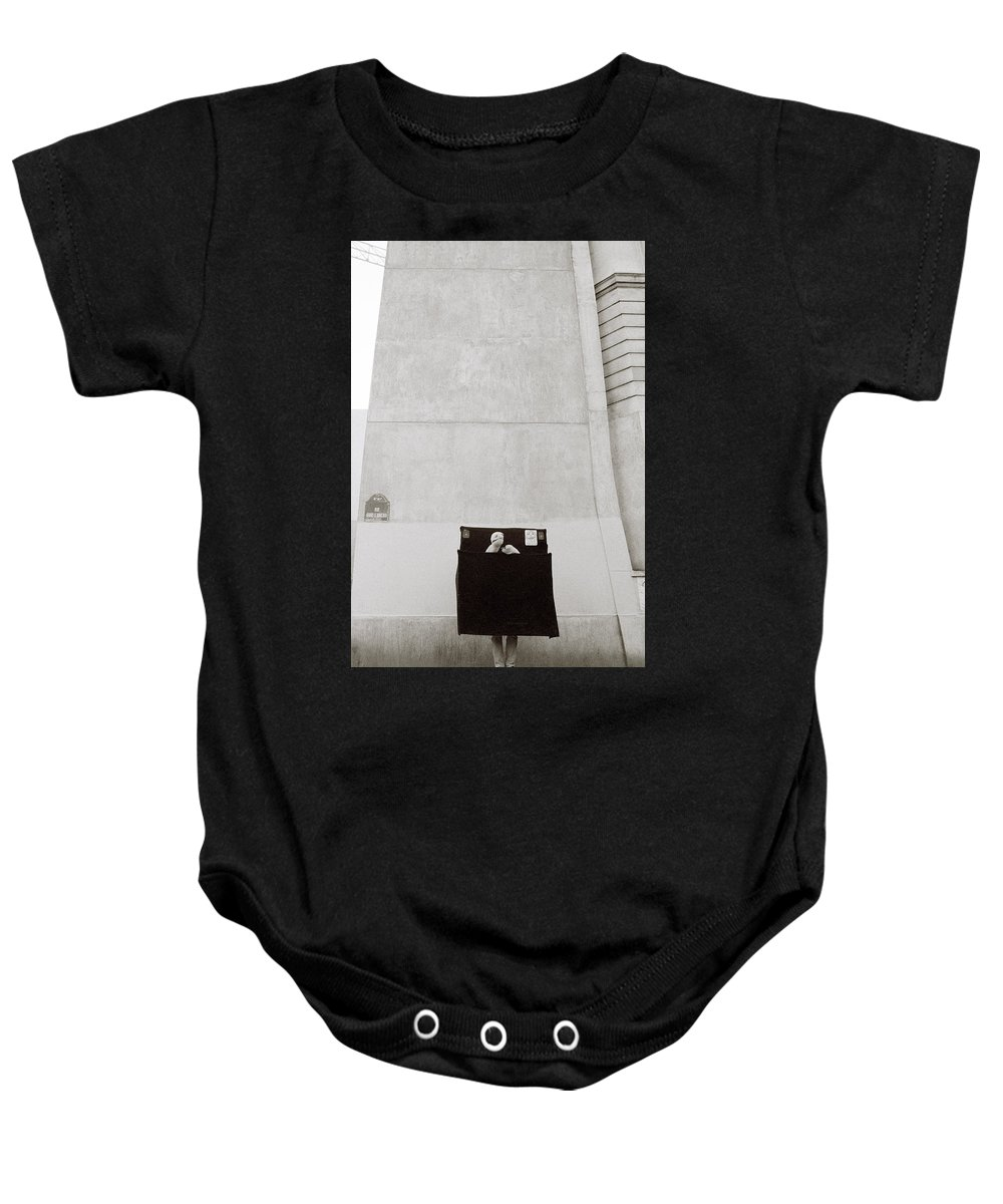 Paris Baby Onesie featuring the photograph Paris Surrealism by Shaun Higson