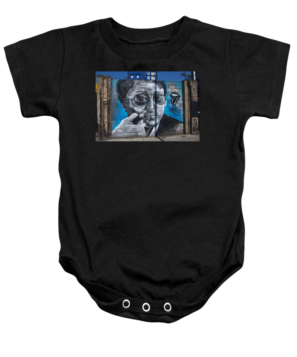 Street Art Baby Onesie featuring the photograph Street Portrait by David Resnikoff