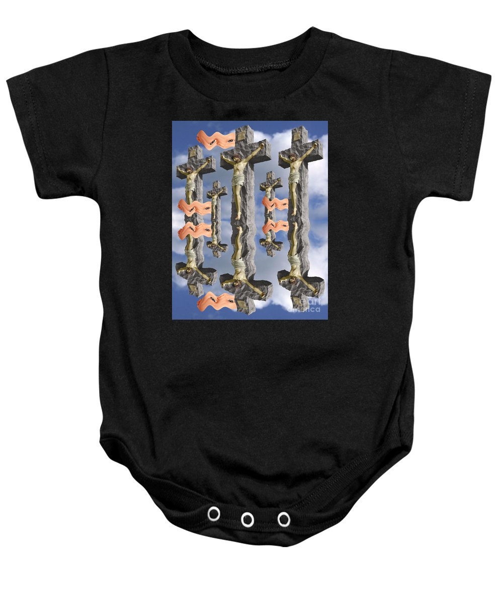 Digital Art Baby Onesie featuring the digital art String Theory 2 by Keith Dillon