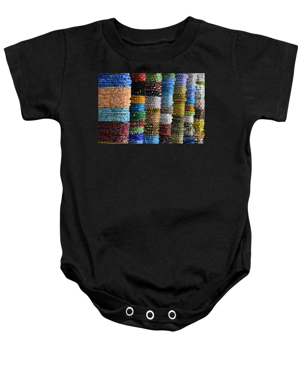 Beads Baby Onesie featuring the photograph Strings Of Color by Randy J Heath