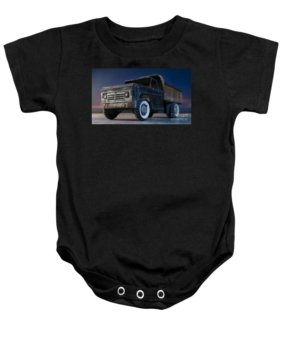 Toy Truck Baby Onesie featuring the photograph Structo #303 by Art Whitton